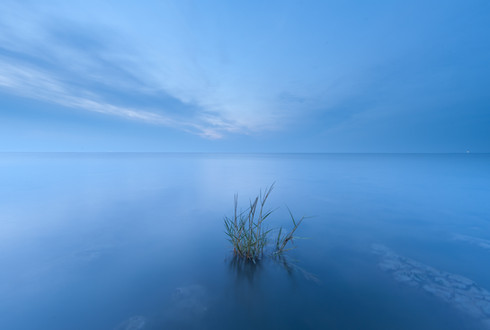 into the blue..