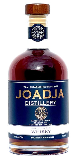 Joadja  Paddock to Bottle Single Malt Whisky, Ex Pedro Ximenez Casks