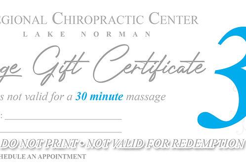 (x1) 30 Minute Massage