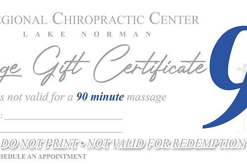 (x1) 90 Minute Massage