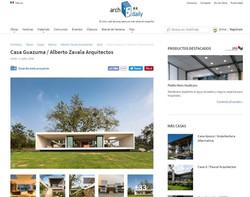 Publicación Archdaily - Casa Guazuma
