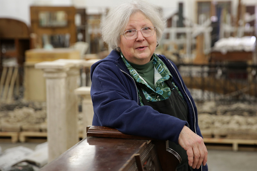 Betsy Werhane at her Architectural Salvage store in Denver