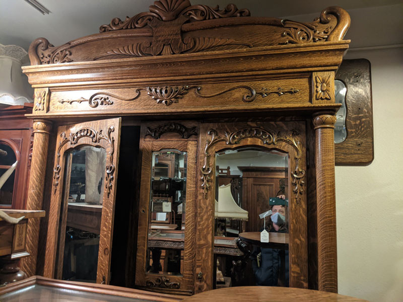 A Lovely Antique Oak Armoire I Stumbled Across While Sourcing an Overmantel