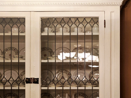 Original China Cabinet with Leaded Glass in 1898 Denver Square