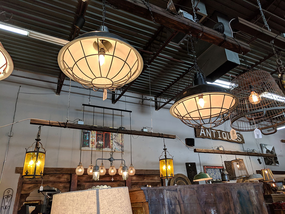 Industrial Lighting at Rare Finds Warehouse