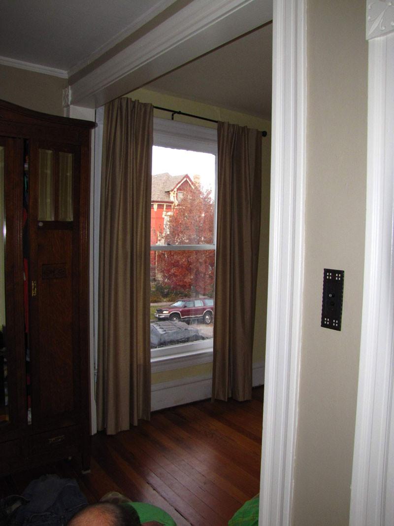 Original Wood Moldings and Door Casing in Denver Square