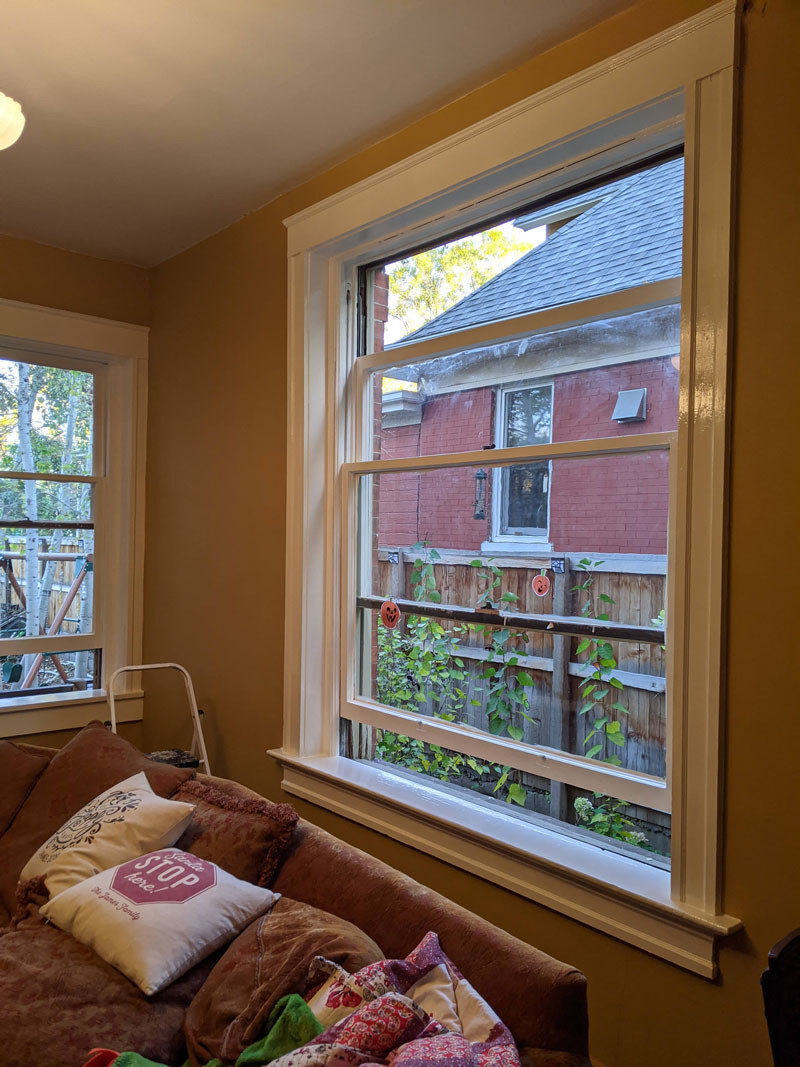 Painting wood double hung windows with oil based paint
