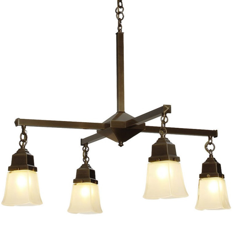 Arts and crafts light fixture adds character to any home