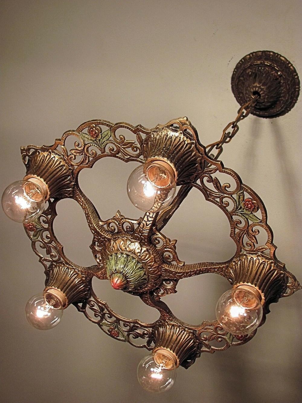 Virden Winthrop 5 light chandelier adds character to a Denver Square