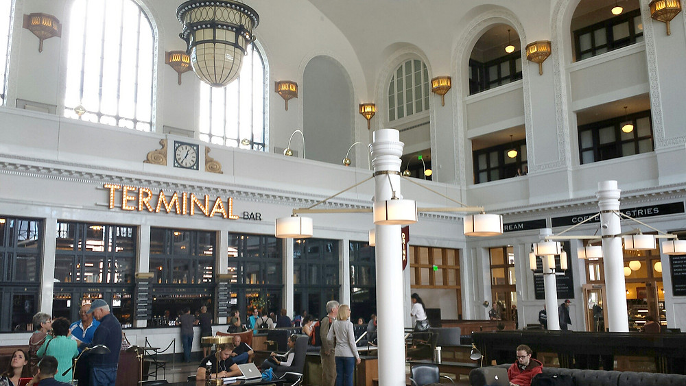 An interior view of the Great Hall at Denver's Union Station