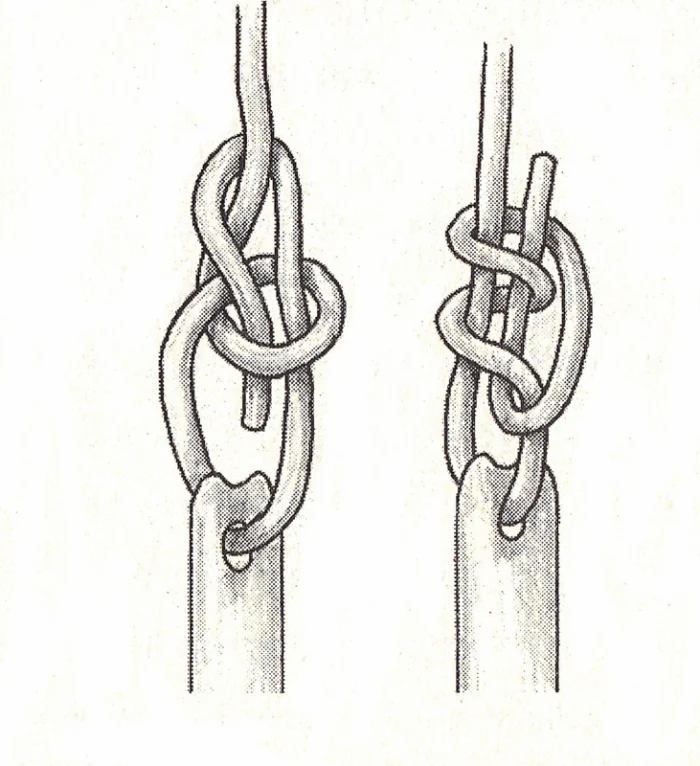Bowline and Poachers Knots for Trying Window Sash Cords