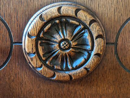 Antique Quarter Sawn Oak Entry Chest
