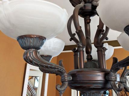 Art Nouveau Bronze Light Fixtures