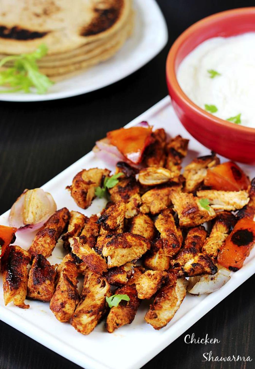 Chicken Tikka Shawarma