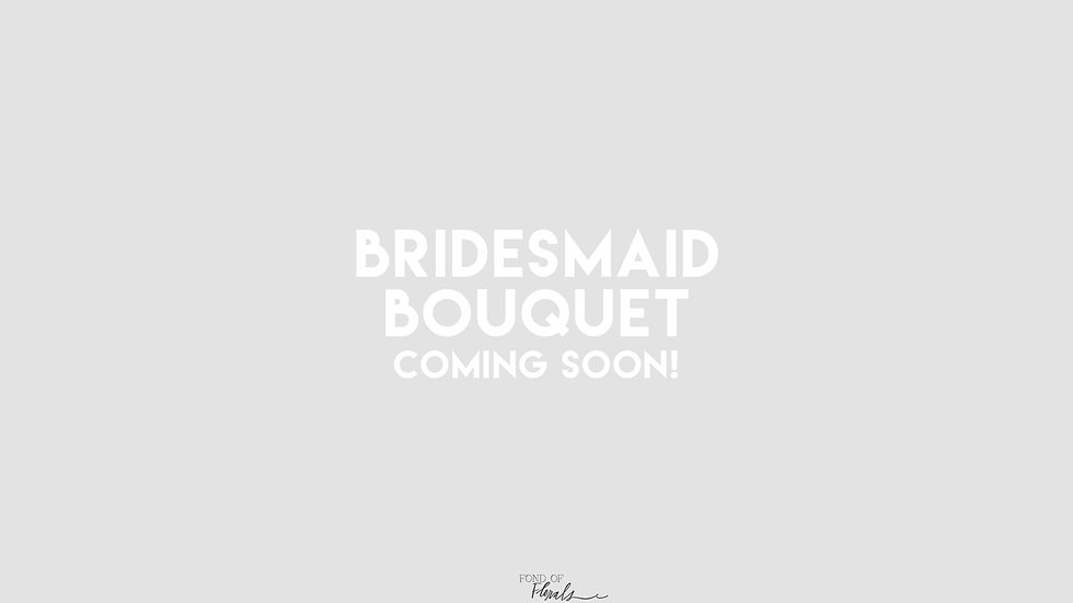 Color Bridesmaid Bouquet