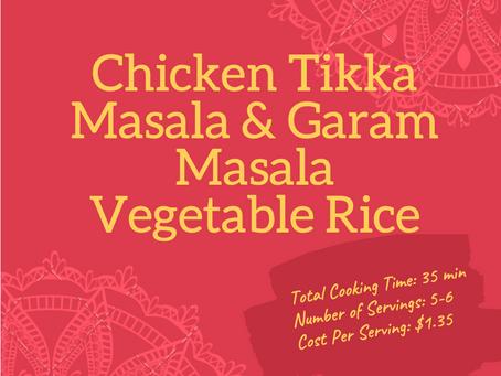 FIT Meals - Chicken Tikka Masala & Garam Masala Vegetable Rice
