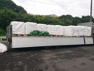 広島県大雨災害対策 大型土のう納入