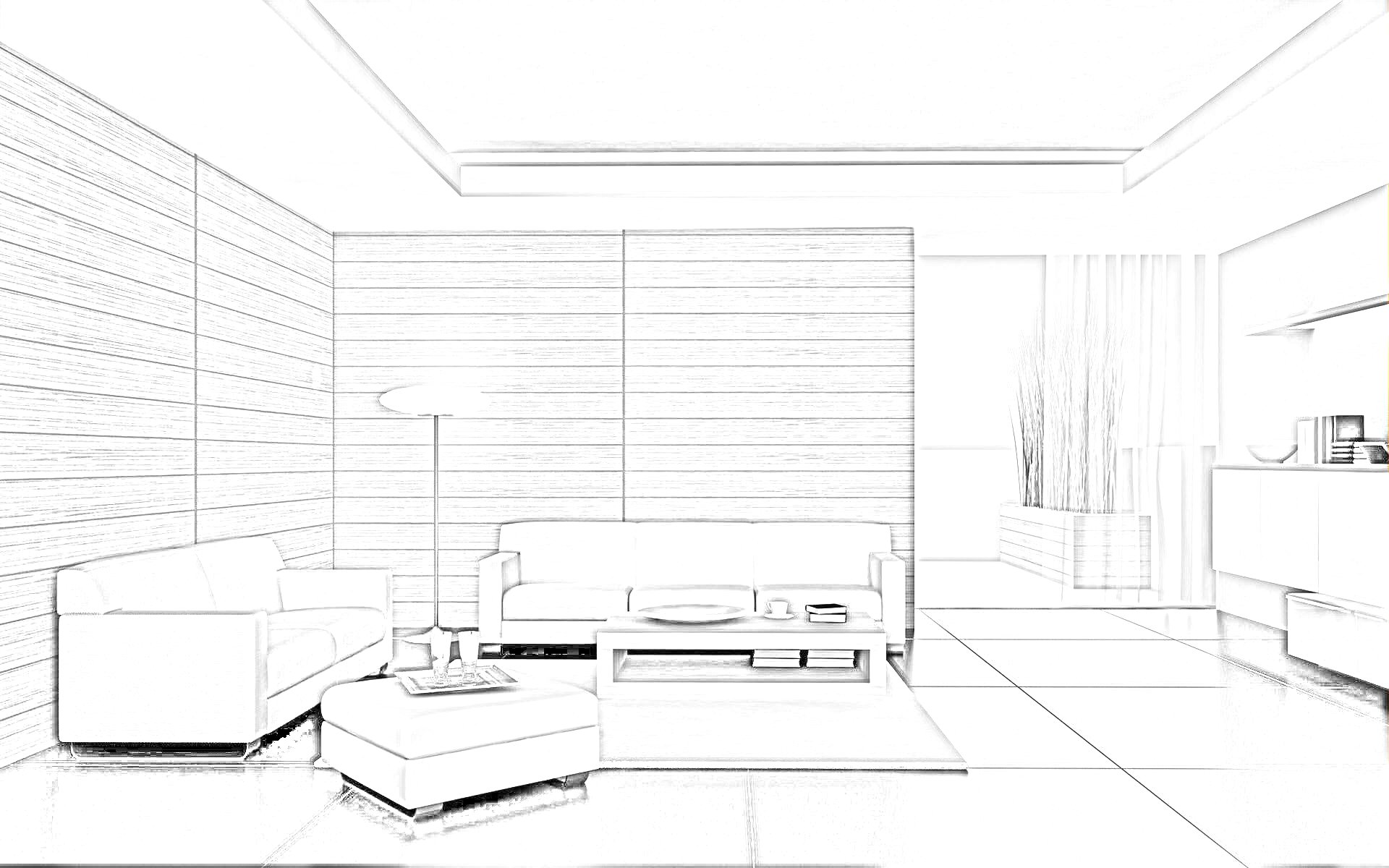 Home interior decoration sketches for kids 15 jpg