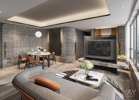 GRAND CENTRAL - Living + Dining Area Designed By YAY CONCEPT