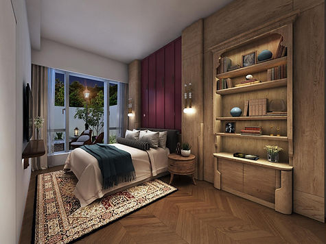 MOUNT PAVILIA 傲瀧 T11 - BED ROOM Designed By YAY CONCEPT