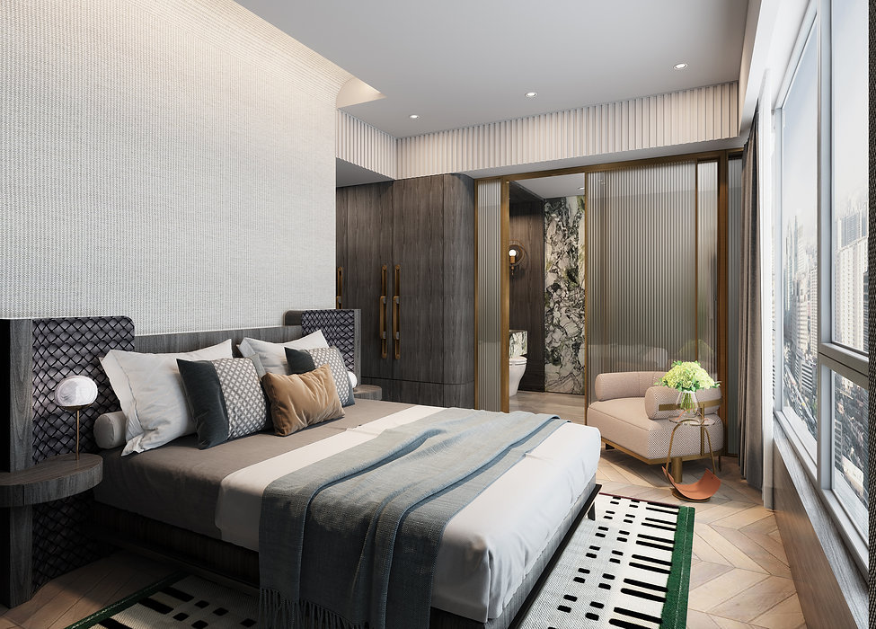 HK GRAND CENTRAL (凱滙)  - Master Bedroom Picture Designed by YAY CONCEPT