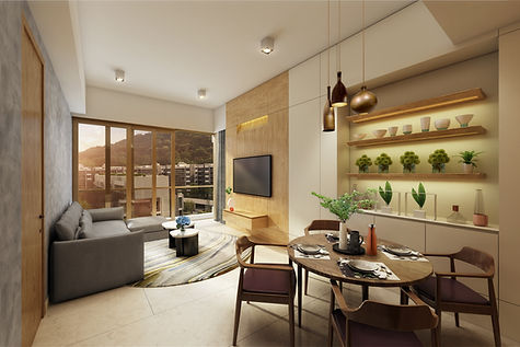 MOUNT PAVILIA T9 傲瀧 LIVING ROOM DESIGNED BY YAY CONCEPT