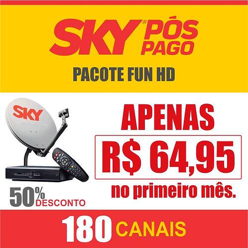 SKY PÓS PAGO - PACOTE FUN HD