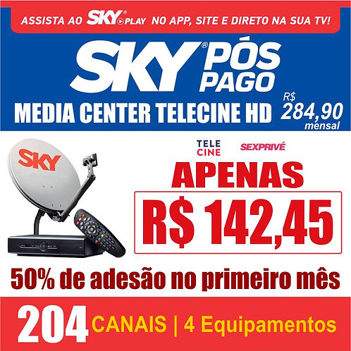 PACOTE MEDIA CENTER TELECINE HD - 204 CANAIS