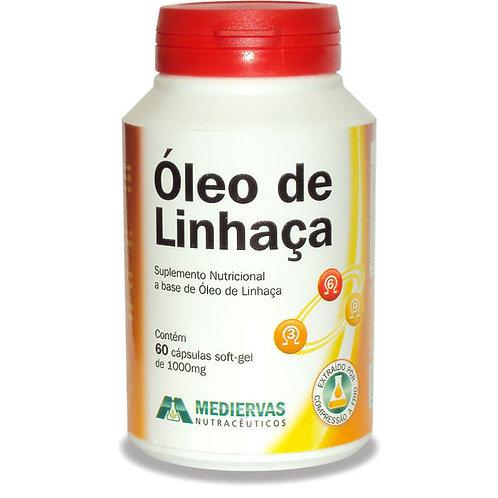 ÓLEO DE LINHAÇA 60 CÁPSULAS 1000mg MEDIERVAS