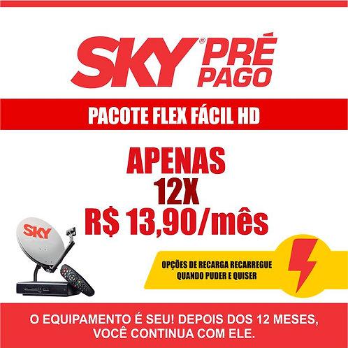 SKY PRÉ-PAGO: PACOTE FLEX FÁCIL HD
