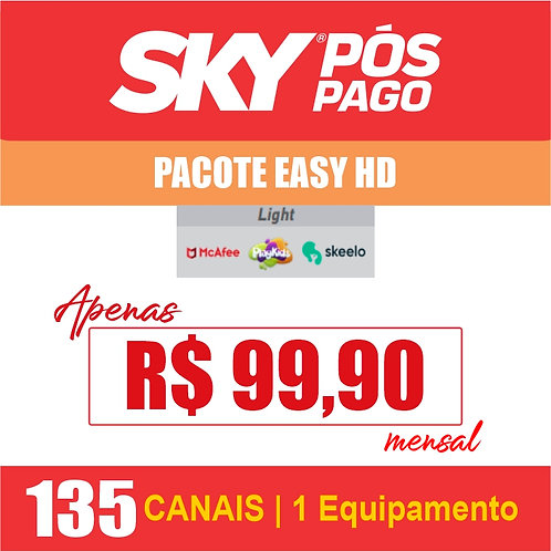 SKY PÓS PAGO - PACOTE EASY HD - 135 CANAIS