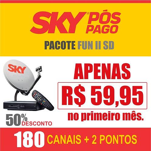 SKY PÓS PAGO - PACOTE FUN II SD - 02 EQUIPAMENTOS