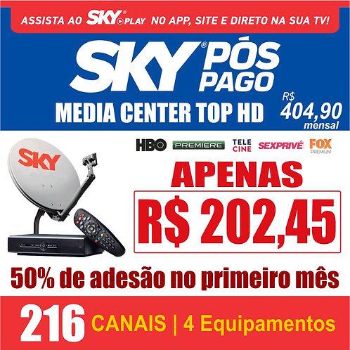 PACOTE MEDIA CENTER TOP HD - 216 CANAIS