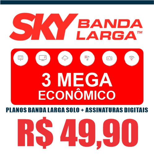 SKY BANDA LARGA - 3 MEGA ECONÔMICO - BANDA LARGA SOLO+ASSINATURAS DIGITAIS
