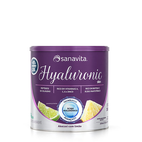 HYALURONIC SKIN SABOR ABACAXI COM LIMÃO 300g
