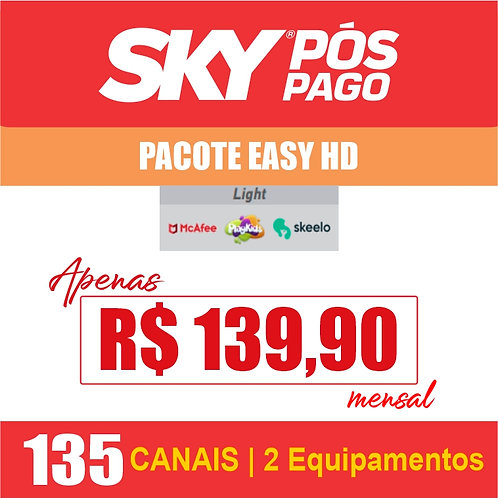 SKY PÓS PAGO - PACOTE EASY II HD - 135 CANAIS