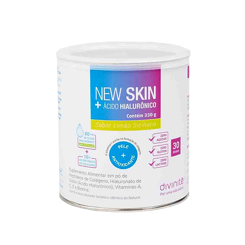 New Skin® + Ácido Hialurônico Limão Siciliano 330g