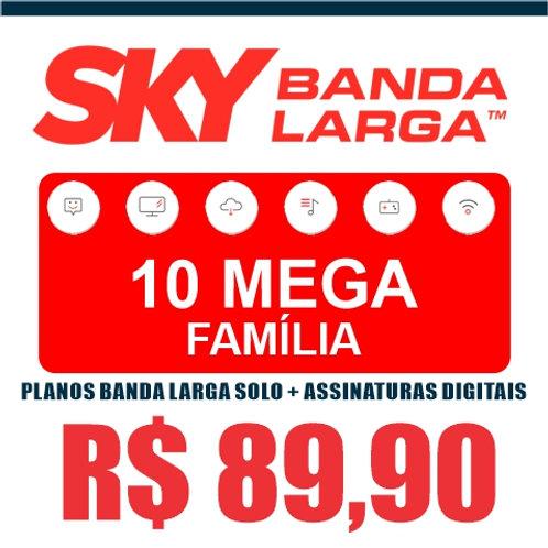 SKY BANDA LARGA - 10 MEGA FAMÍLIA - PLANOS BANDA LARGA SOLO + ASSINATURAS