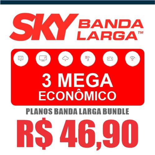 SKY BANDA LARGA - 3 MEGA ECONÔMICO - BUNDLE
