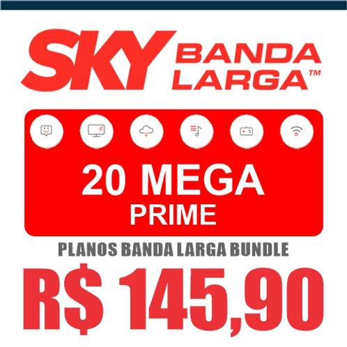 SKY BANDA LARGA - 20 MEGA PRIME - BUNDLE