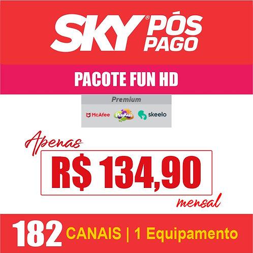 SKY PÓS PAGO - PACOTE FUN HD  - 182 CANAIS