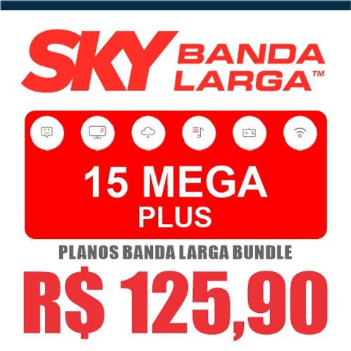 SKY BANDA LARGA - 15 MEGA PLUS - BUNDLE