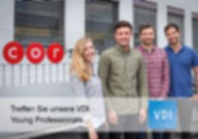 Treffen Sie unsere VDI Young Professionals Christoph Hohbein, Dominik Spitznagel, Marlene Meyer, Christian Fischer