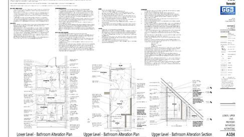 Complete Bathroom Remodel + Renovation Construction Plans