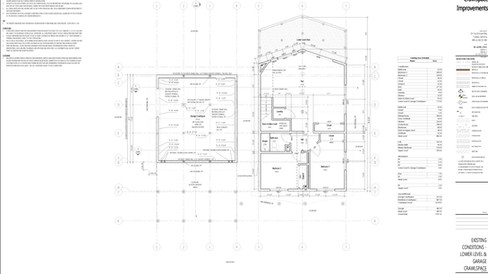 As-Built Measurements translated to CAD Drawings