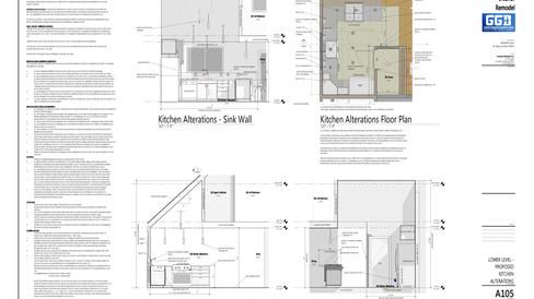 Complete Kitchen Remodel + Renovation Construction Plans