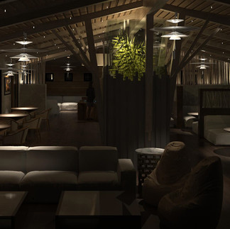 Cannablue Treehouse Lounge Commercial Design