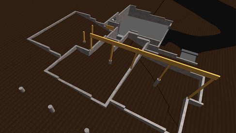 Crawlspaces and Foundations Measured, Modelled and CAD Drafted