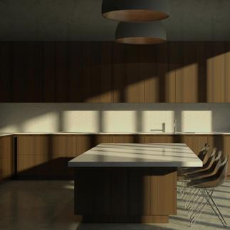 Modern Minimalist Kitchen Concept