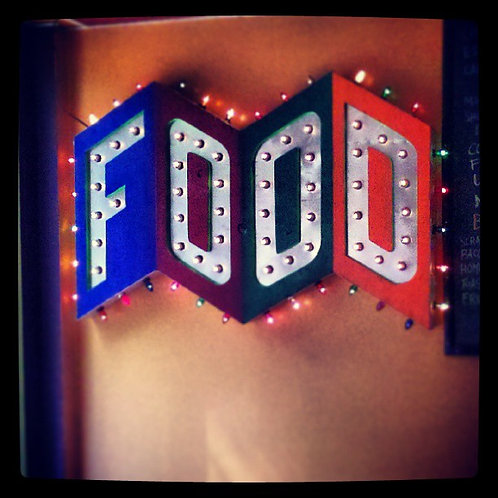 FOOD display sign